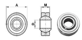 gewrichtlager 22 mm